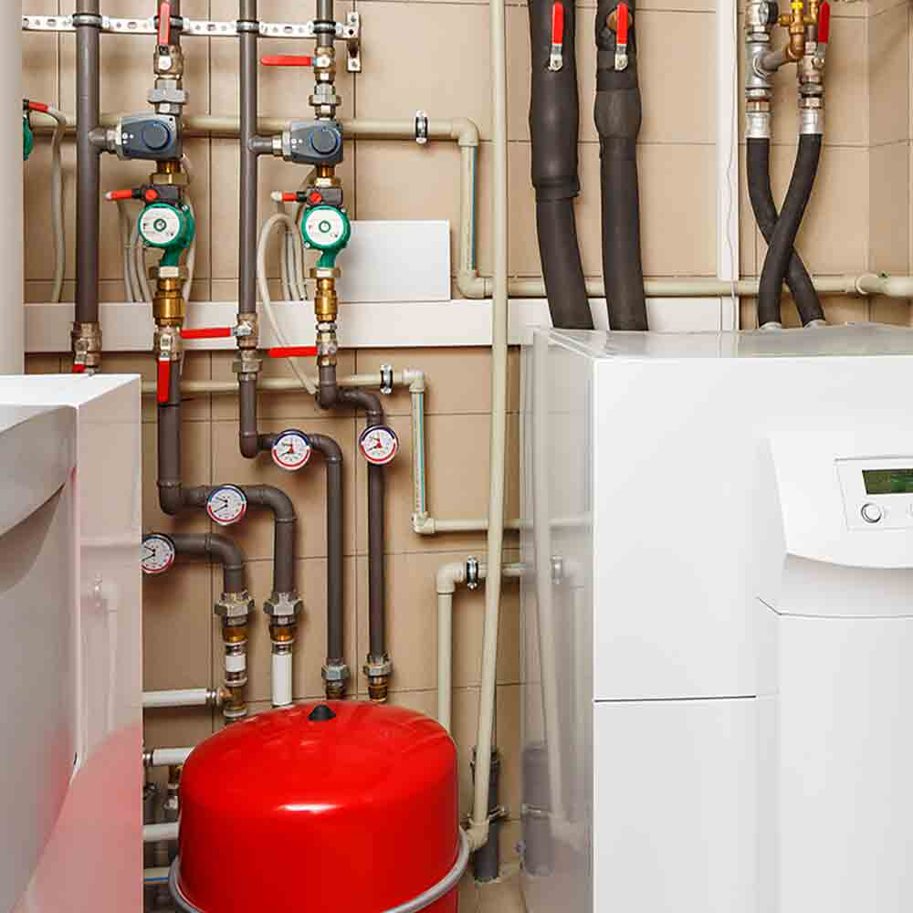installed boiler and heating system